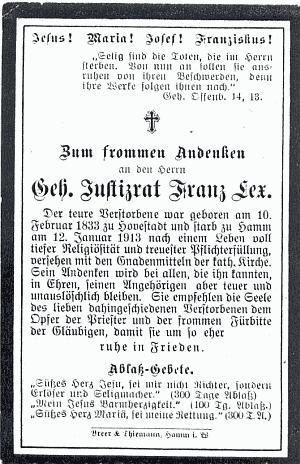 Totenzettel (C) Familienarchiv Stegers